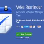 программа напоминаний wise reminder