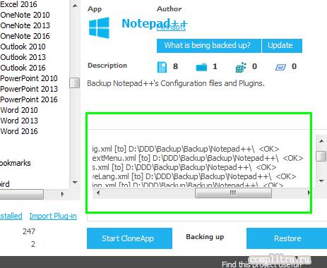 восстановление данных программ cloneapp