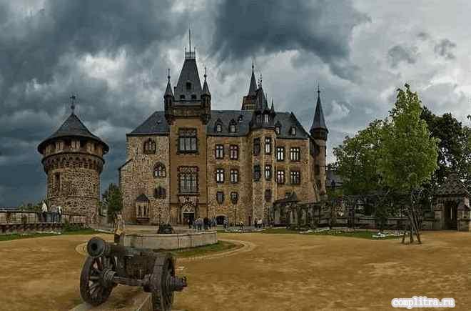 Замок в Германии в Вернигероде