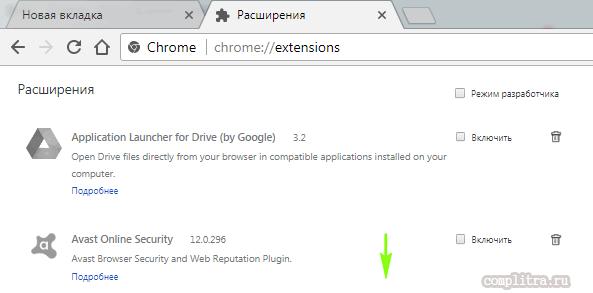 Google Chrome расширения