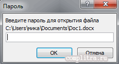 пароль на файл Word