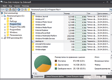 утилита Free Disk Analyzer