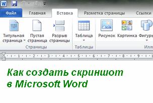 скриншот в Microsoft Word
