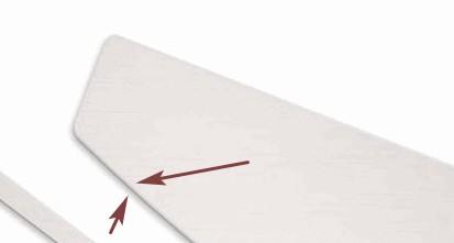 высота отрыва сенсора - толщина профиля ножки миши
